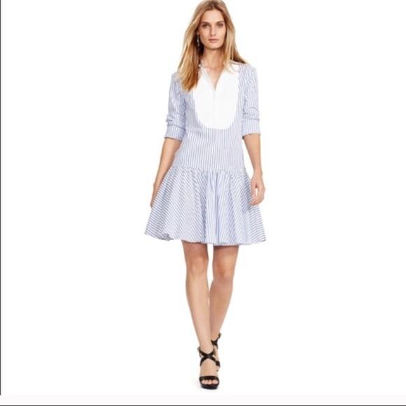 c84c63bc9a7 NWT Polo by Ralph Lauren Striped Shirt Dress Sz 8
